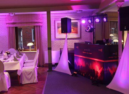 DJ-Hochzeit-Aufbau